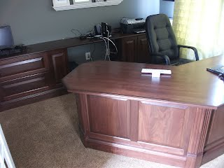Custom made office furniture by Modern Lumber