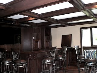 the ultimate man cave matching floor bar walls ceiling invite