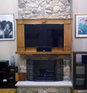 Custom made Flat Screen TV Cabinet for fireplace